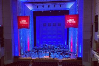 BBC Proms Japan: Orchard Hall stage set
