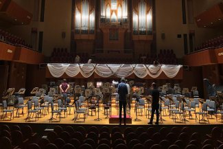 BBC Proms Japan: Osaka Symphony Hall stage set