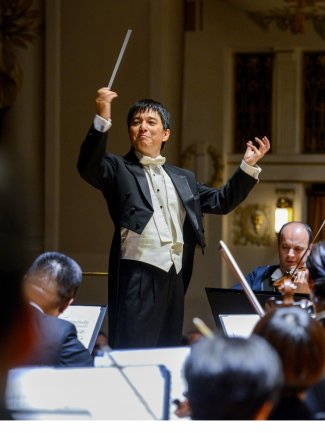 Lan Shui with SSO in Prague Smetana Hall